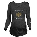 Mushroom Addict Long Sleeve Maternity T-Shirt