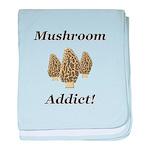 Mushroom Addict baby blanket