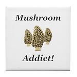 Mushroom Addict Tile Coaster