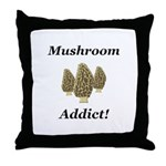 Mushroom Addict Throw Pillow