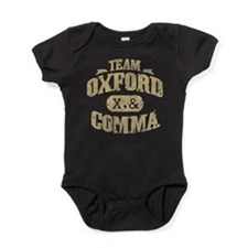 Team Oxford Comma Baby Bodysuit