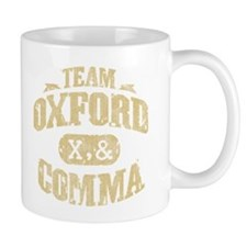 Team Oxford Comma Small Mugs