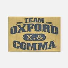 Team Oxford Comma Rectangle Magnet