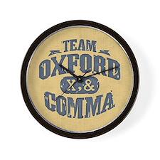 Team Oxford Comma Wall Clock