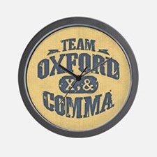 Team Oxford Comma Wall Clock