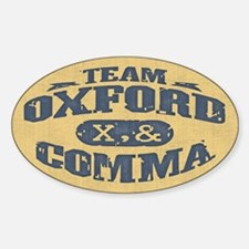 Team Oxford Comma Sticker (Oval)
