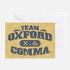 Team Oxford Comma Greeting Card