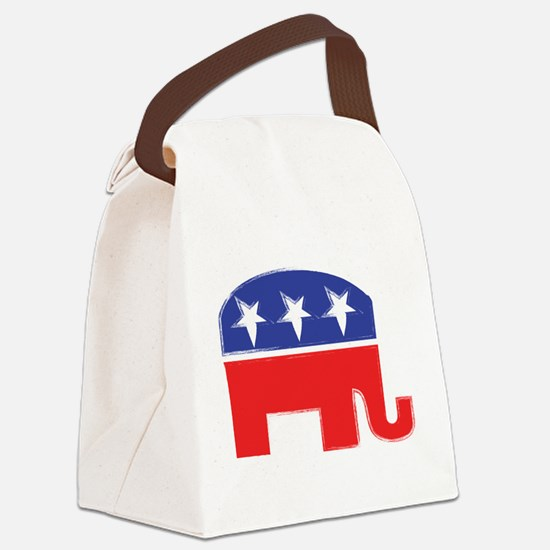 repubelephant1 Canvas Lunch Bag