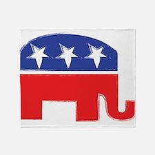 repubelephant1 Throw Blanket