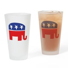 repubelephant1 Drinking Glass