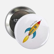 Rocket Man Rocket Ship 2.25 Inch Button