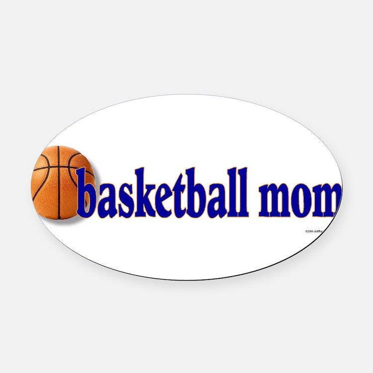 Cute Basketball mom Oval Car Magnet