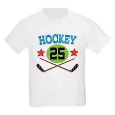 Hockey Player Number 25 T-Shirt