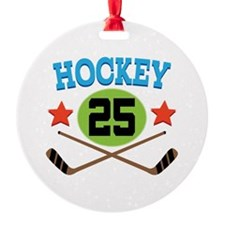 Hockey Player Number 25 Ornament