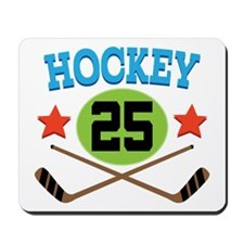 Hockey Player Number 25 Mousepad