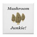 Mushroom Junkie Tile Coaster
