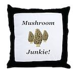 Mushroom Junkie Throw Pillow