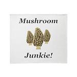 Mushroom Junkie Throw Blanket