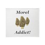 Morel Addict Throw Blanket