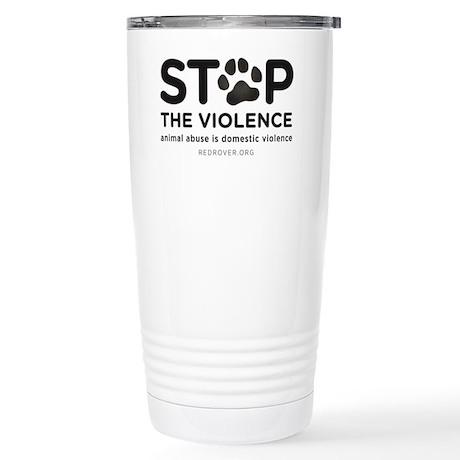 STOP THE VIOLENCE: anim Stainless Steel Travel Mug