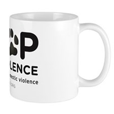 STOP THE VIOLENCE: animal abuse is dome Mug