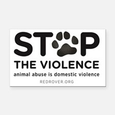 STOP THE VIOLENCE: animal abu Rectangle Car Magnet