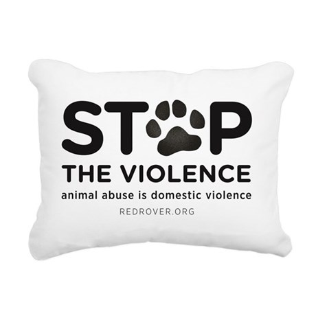 STOP THE VIOLENCE: anima Rectangular Canvas Pillow