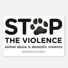 STOP THE VIOLENCE: animal Postcards (Package of 8)