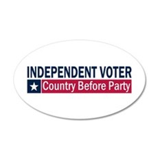 Independent Voter Blue Red 22x14 Oval Wall Peel