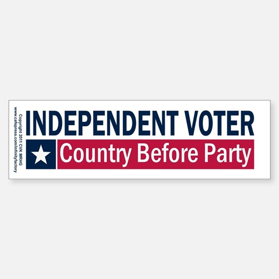Independent Voter Blue Red Sticker (Bumper)