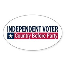 Independent Voter Blue Red Decal