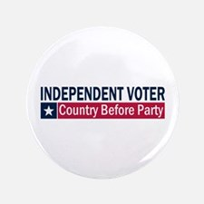 "Independent Voter Blue Red 3.5"" Button"