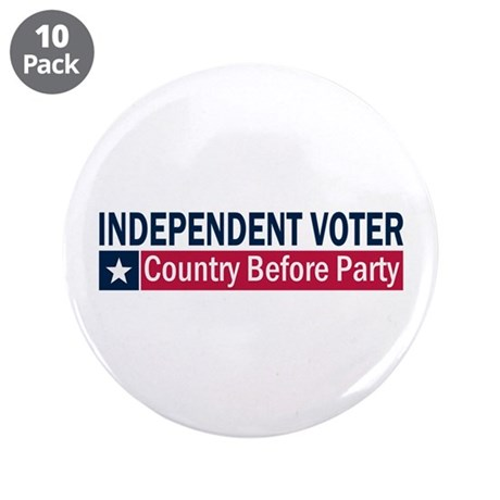 "Independent Voter Blue Red 3.5"" Button (10 pack)"