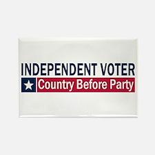 Independent Voter Blue Red Rectangle Magnet