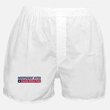 Independent Voter Blue Red Boxer Shorts