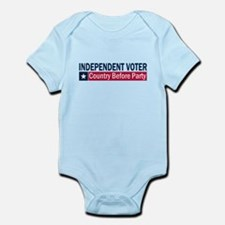 Independent Voter Blue Red Infant Bodysuit