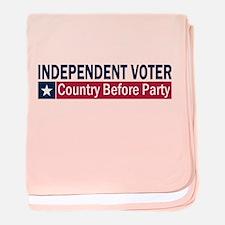 Independent Voter Blue Red baby blanket