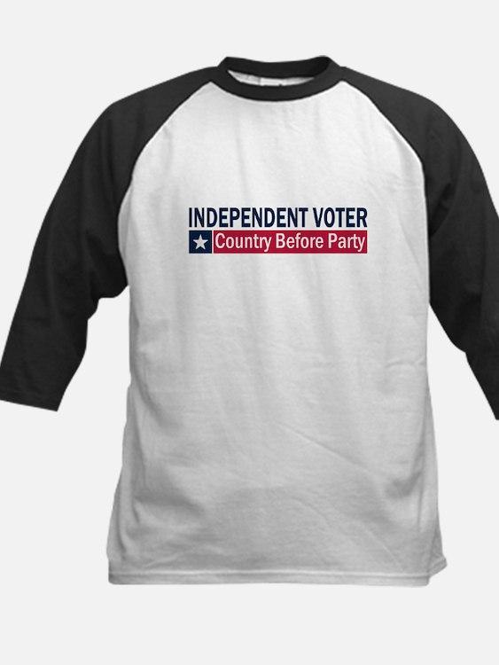 Independent Voter Blue Red Kids Baseball Jersey