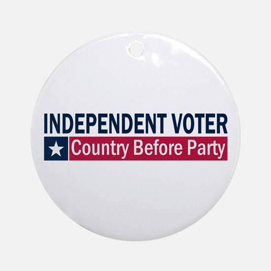 Independent Voter Blue Red Ornament (Round)
