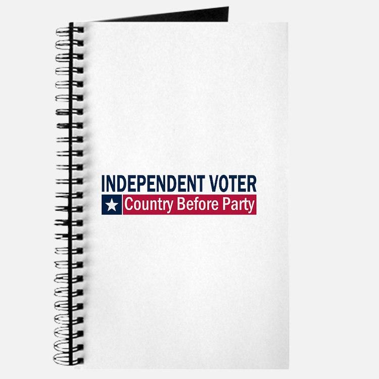 Independent Voter Blue Red Journal