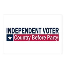 Independent Voter Blue Red Postcards (Package of 8