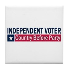 Independent Voter Blue Red Tile Coaster