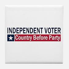 Independent Voter Blue Red Tile Coaster