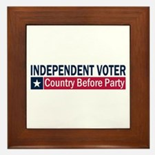 Independent Voter Blue Red Framed Tile