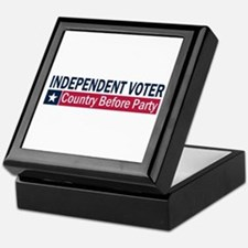Independent Voter Blue Red Keepsake Box