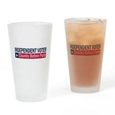 Independent Voter Blue Red Drinking Glass