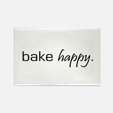 Bake Happy Rectangle Magnet