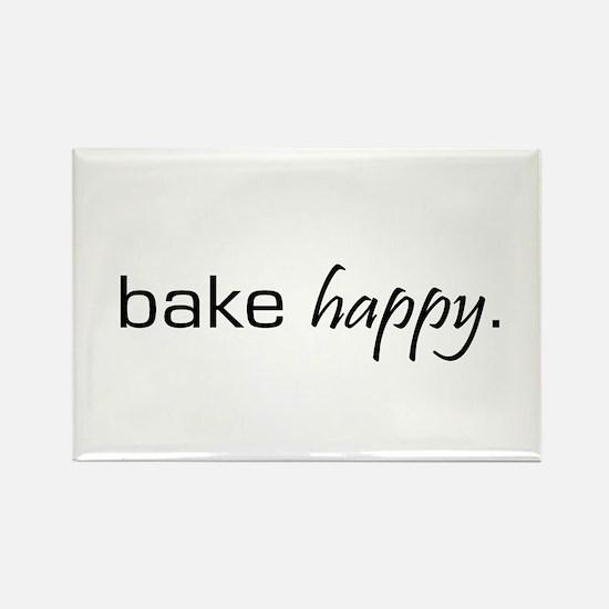 Bake Happy Rectangle Magnet