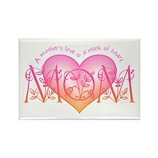 Work Of Heart Mom Rectangle Magnet