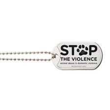 STOP THE VIOLENCE Dog Tags